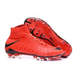 Baratas Botas de fútbol Nike HyperVenom Phantom III DF FG Rojo Negro