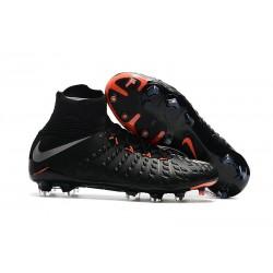 Baratas Botas de fútbol Nike HyperVenom Phantom III DF FG Negro Plateado Naranja