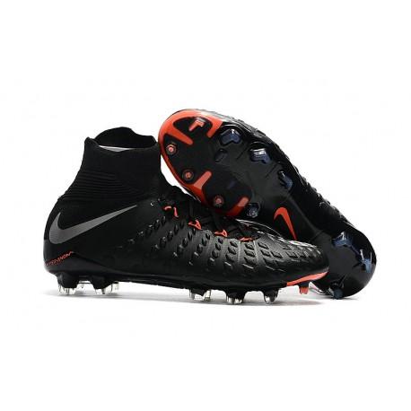 59e803ebdc9fd Baratas Botas de fútbol Nike HyperVenom Phantom III DF FG Negro ...
