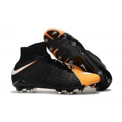 Nuevo Zapato de Fútbol Nike HyperVenom Phantom III DF FG Negro Amarillo Blanco