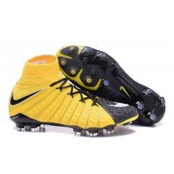 Nuevo Zapato de Fútbol Nike HyperVenom Phantom III DF FG Amarillo Negro
