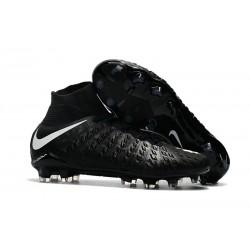 Botas de fútbol Nike HyperVenom Phantom III DF FG Para Hombre Negro Blanco