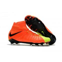 Botas de fútbol Nike HyperVenom Phantom III DF FG Para Hombre Naranja Volt Negro