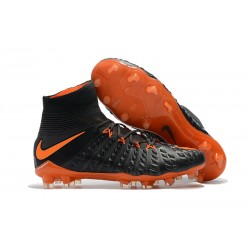 Baratas Botas de fútbol Nike HyperVenom Phantom III DF FG Negro Naranja