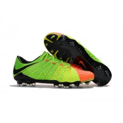 Nuevo Botas de fútbol Nike HyperVenom Phantom III FG Verde Naranja Negro