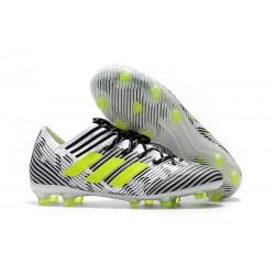 Botas de fútbol Adidas Nemeziz Messi 17.1 FG Blanco Amarillo Negro