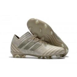 2018 Zapatos de fútbol Adidas Nemeziz Messi 17.1 FG Blanco Oro