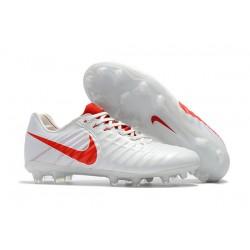 Botas de fútbol Nike Tiempo Legend VII FG Blanco Rojo