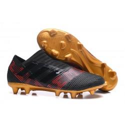 Zapatillas de fútbol Adidas Nemeziz 17+ 360 Agility FG Negro Oro Rojo
