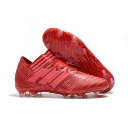 2018 Zapatos de fútbol Adidas Nemeziz Messi 17.1 FG Rojo Rosa