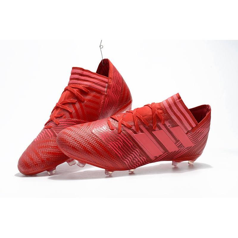 Fútbol 1 Messi Zapatos Adidas Rosa Rojo De Nemeziz Fg 2018 17 qOREaa