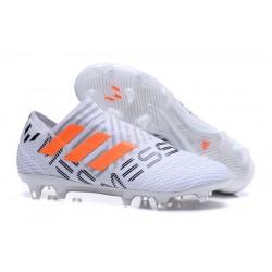 Zapatillas de fútbol Adidas Nemeziz 17+ 360 Agility FG Blanco Naranja Gris