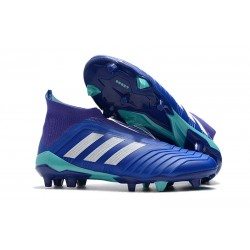 Botas de fútbol adidas Predator 18+ FG - Azul Blanco