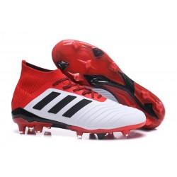 Nuevo Botas de fútbol Adidas Predator 18.1 FG Blanco Negro Rojo