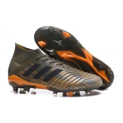 Nuevo Botas de fútbol Adidas Predator 18.1 FG Oliva Negro Naranja