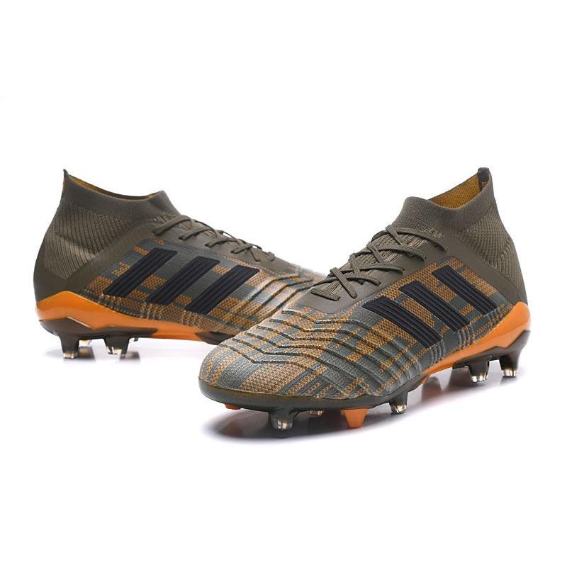 Nuevo Botas de fútbol Adidas Predator 18.1 FG Oliva Negro Naranja acdceb07246ec