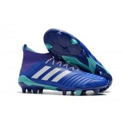Nuevo Botas de fútbol Adidas Predator 18.1 FG Azul Blanco