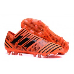 Zapatillas de fútbol Adidas Nemeziz 17+ 360 Agility FG Naranja Negro