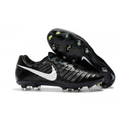 Botas de fútbol Nike Tiempo Legend VII FG Negro Blanco