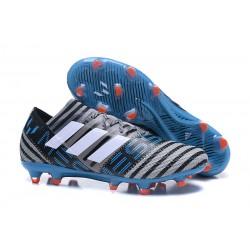 Botas de fútbol Adidas Nemeziz Messi 17.1 FG Gris Negro Azul