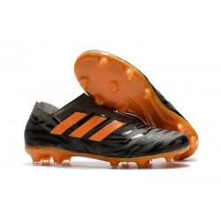 Zapatillas de fútbol Adidas Nemeziz 17+ 360 Agility FG Negro Naranja