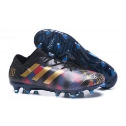 Botas de fútbol Adidas Nemeziz 17+ 360 Agility FG Messi Negro Oro Azul