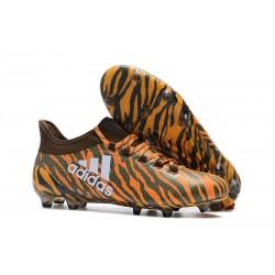 Zapatillas de fútbol Adidas X 17.1 FG Para Hombre Naranja Oliva