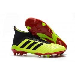 Nuevo Botas de fútbol Adidas Predator 18.1 FG Volt Negro Rojo