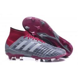 Nuevo Botas de fútbol Adidas Predator 18.1 FG Pogba Gris Rojo