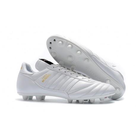 5ef1203cb4fa0 Tacos de futbol Adidas Copa Mundial FG Blanco Dorado
