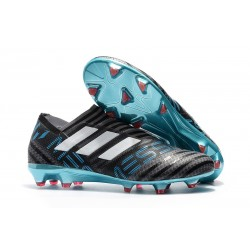 Botas de fútbol Adidas Nemeziz 17+ 360 Agility FG Gris Blanco Negro