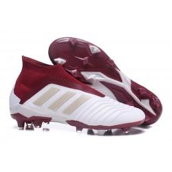 Botas de fútbol adidas Predator 18+ FG - Blanco Rojo