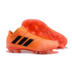 Baratas Botas de fútbol Adidas Nemeziz Messi 18.1 FG Naranja Negro Rojo