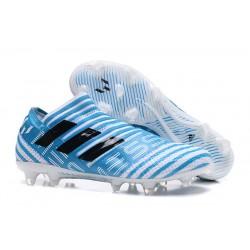 Botas de fútbol Adidas Nemeziz 17+ 360 Agility FG Blanco Azul Negro