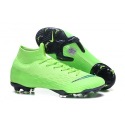 Zapatillas de fútbol Nike Mercurial Superfly VI 360 Elite FG Verde Negro