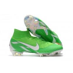 Zapatillas de fútbol Nike Mercurial Superfly VI 360 Elite FG Plata Verde