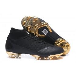 Zapatillas de fútbol Nike Mercurial Superfly VI 360 Elite FG Oro Negro