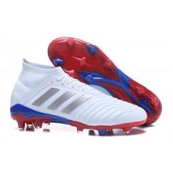 Nuevo Botas de fútbol Adidas Predator Telstar 18.1 FG Rojo Plateado Azul