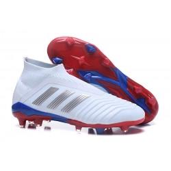 Botas de fútbol adidas Predator Telstar 18+ FG - Rojo Plateado Azul