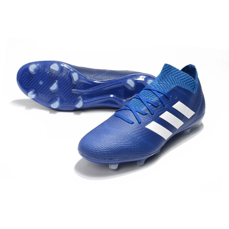 0333741e0c7 Baratas Botas de fútbol Adidas Nemeziz Messi 18.1 FG Azul Blanco