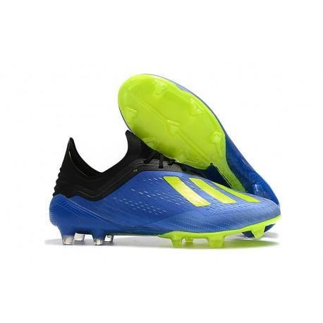 Botas de fútbol Adidas X 18.1 FG Para Hombre Azul Amarillo Negro 6c1bee36191fc