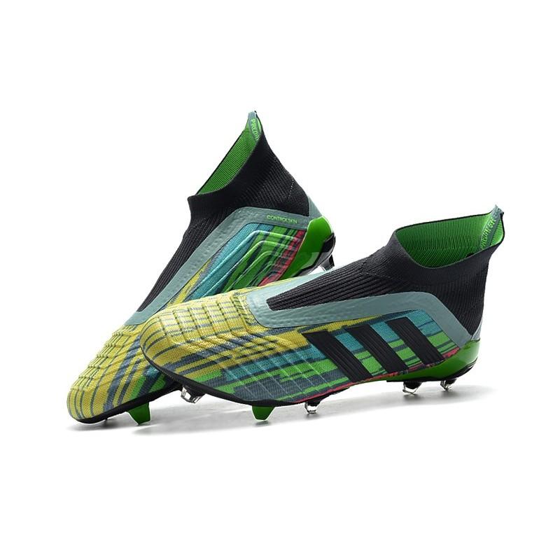 Tacos de Futbol Baratos Adidas Predator 18+ FG 2018 Colores Verde ... 0f997f4d3f7b6