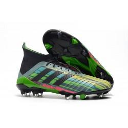 Adidas Tacos de Futbol Predator 18.1 FG Mezclar Colores - Verde Negro Amarillo