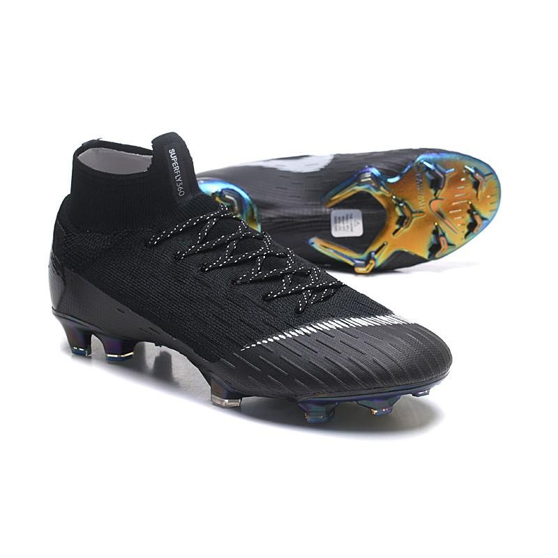huge discount 6dce4 c899f ... Zapatillas de fútbol Nike Mercurial Superfly VI 360 Elite FG Amarillo  Azul Plateado ...