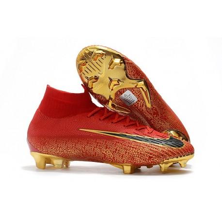 Zapatillas de fútbol Nike Mercurial Superfly VI 360 Elite FG CR7 Negro Plateado