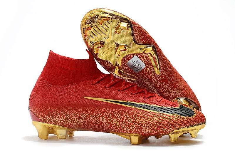 new arrival 0f988 aa1fd Tacos Botas Futbol Nike Mercurial Superfly VI 360 Elite FG Oro Negro Rojo