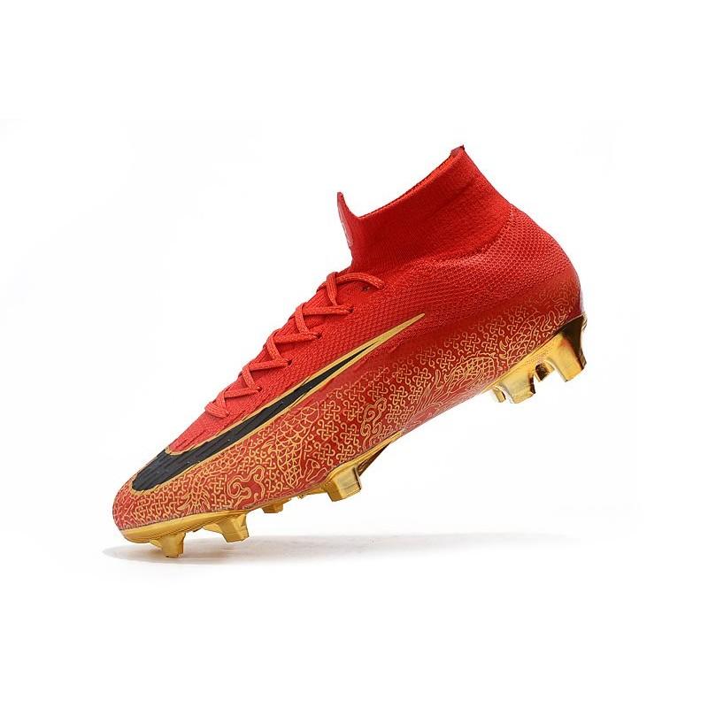 official photos d81ab 60415 ... Zapatillas de fútbol Nike Mercurial Superfly VI 360 Elite FG CR7 Negro  Plateado ...