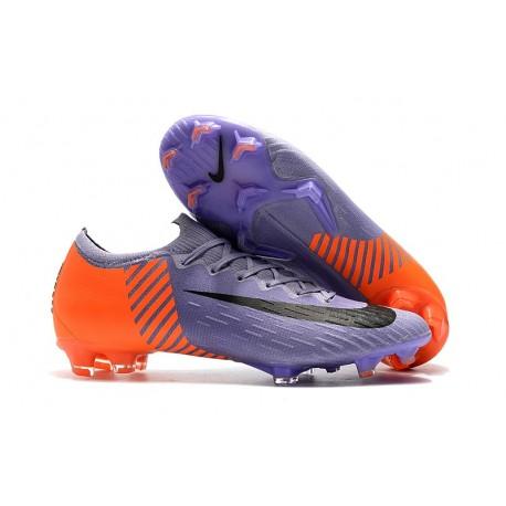 Baratas Botas de fútbol Nike Mercurial Vapor XII Elite FG Negro Naranja Blanco