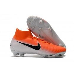 Botas de fútbol Nike Mercurial Superfly VI 360 Elite FG Naranja Blanco