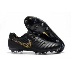Nike Tiempo Legend VII FG Botas de Fútbol para Hombre Leopardo De Oro Negro